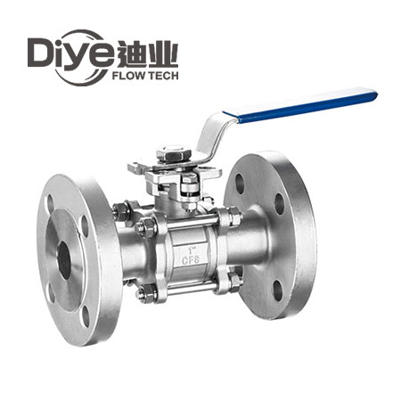 3PC Ball Valve Flanged End ISO5211 ( DIN )